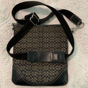 Coach bag - black crossbody, adjustable strap